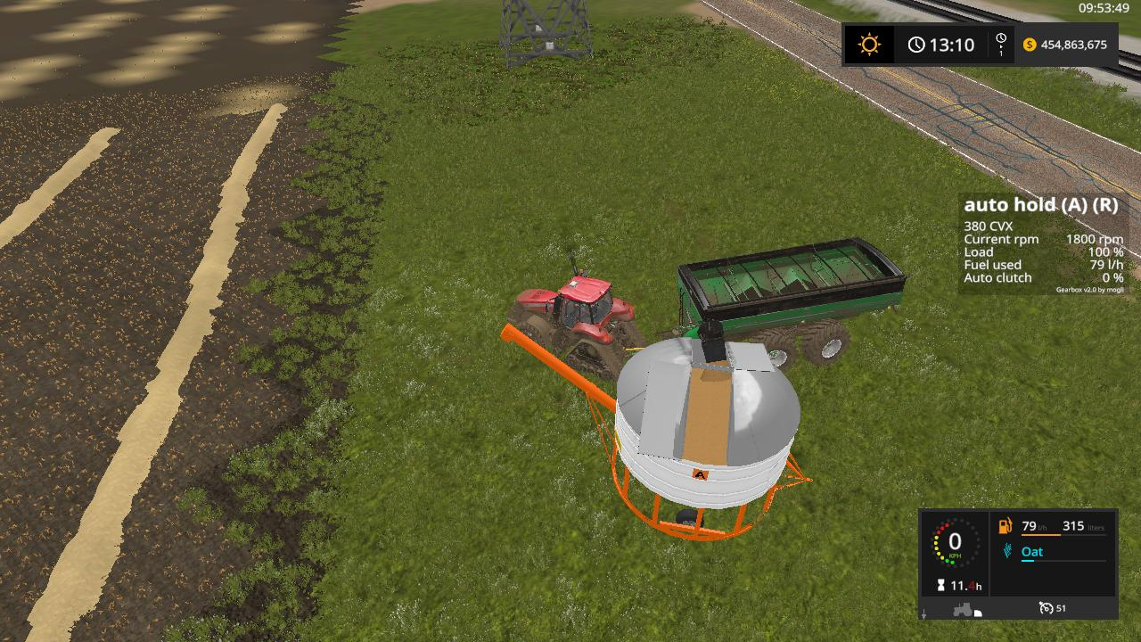 Мод прицепной бункер AHRENS FIELD BIN V1.3.1 Farming Simulator 2017