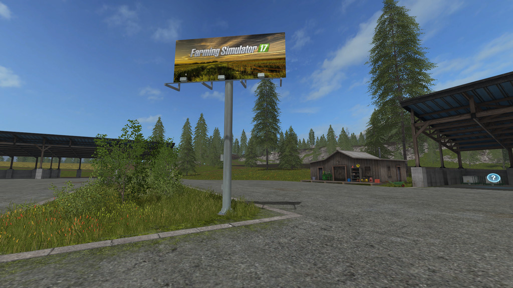 Мод Placeable Billboard v1.0 Farming Simulator 2017