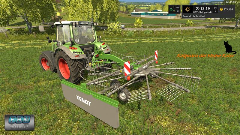 Мод валковая жатка FENDT FORMER 456 DN V1.0 Farming Simulator 2017