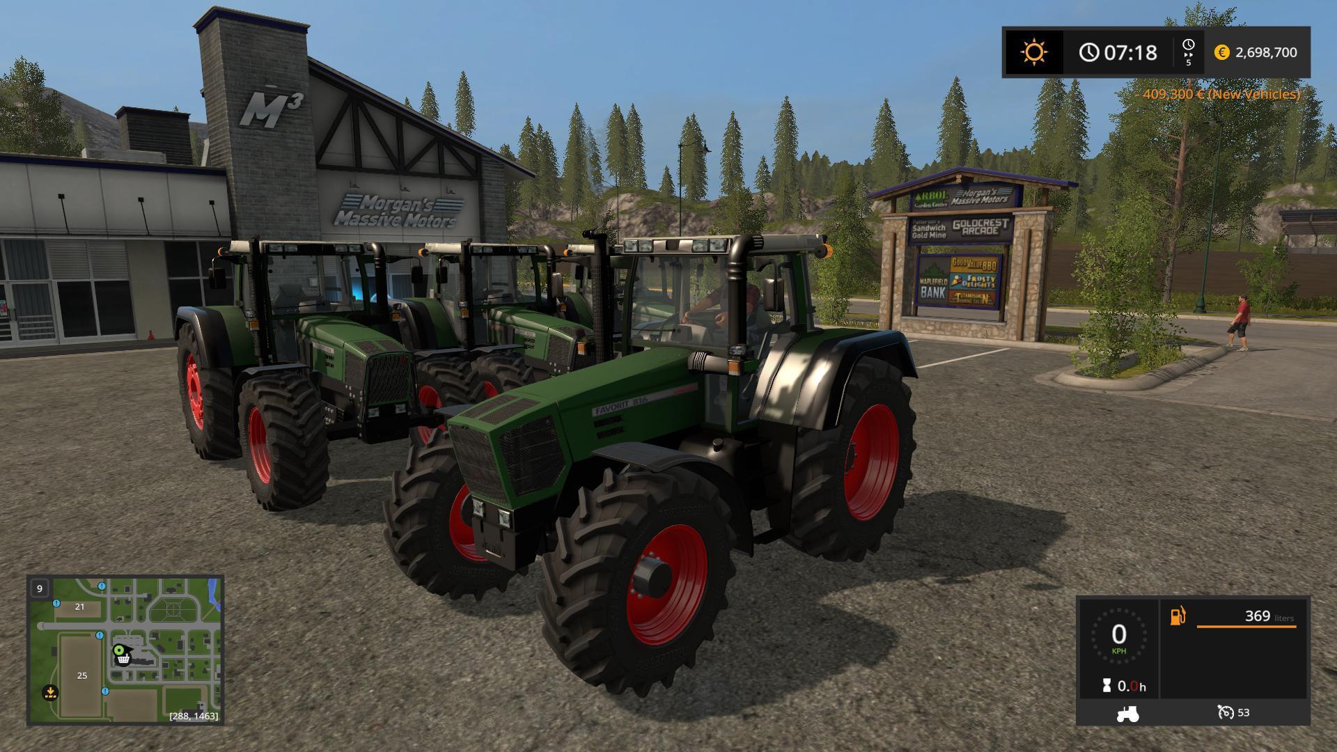 Мод трактор FENDT FAVORIT 800 OFFICIAL FINAL V3.2 Farming Simulator 17