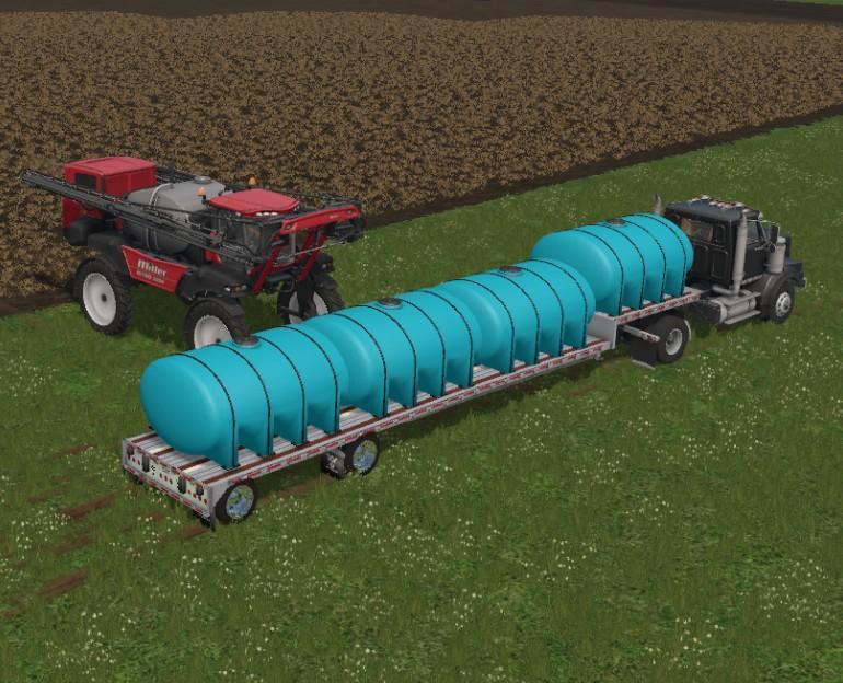 Мод цистерна FERTILIZER TANKER V1.0 Farming Simulator 17