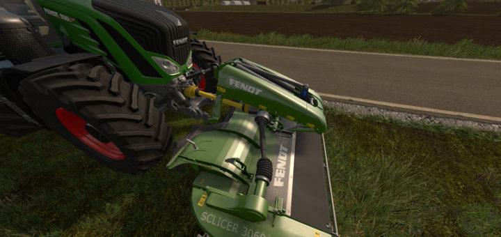 Мод сенокосилка FENDT SLICER 3060 FP V1.0 Farming Simulator 2017