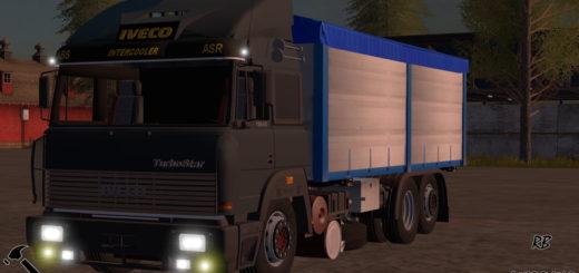 Мод грузовик IVECO TURBOSTAR 190-48 V1.0 Farming Simulator 17