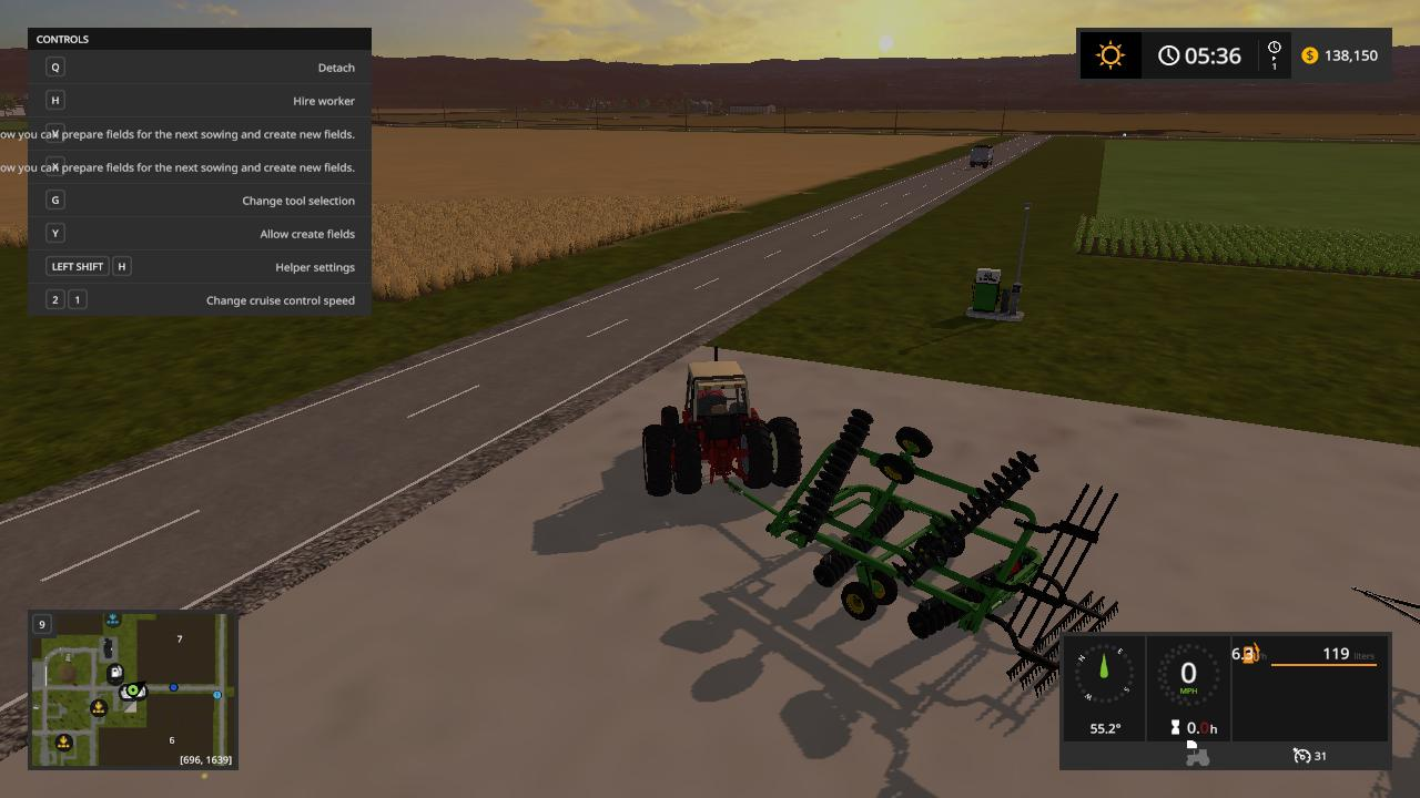 Мод плуг JOHN DEERE 220 DISK PLOW V1.0 Farming Simulator 17