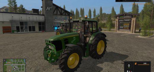 Мод трактор JOHN DEERE 6030 PREMIUM V1.0 Farming Simulator 17