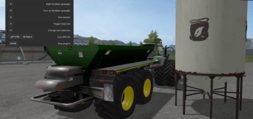 Мод прицеп JOHN DEERE DN345 SPREADER V1.9 Farming Simulator 2017