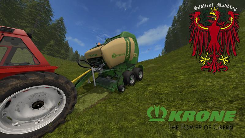 Мод тюкопресс KRONE COMPRIMA V180 V1.1 Farming Simulator 17