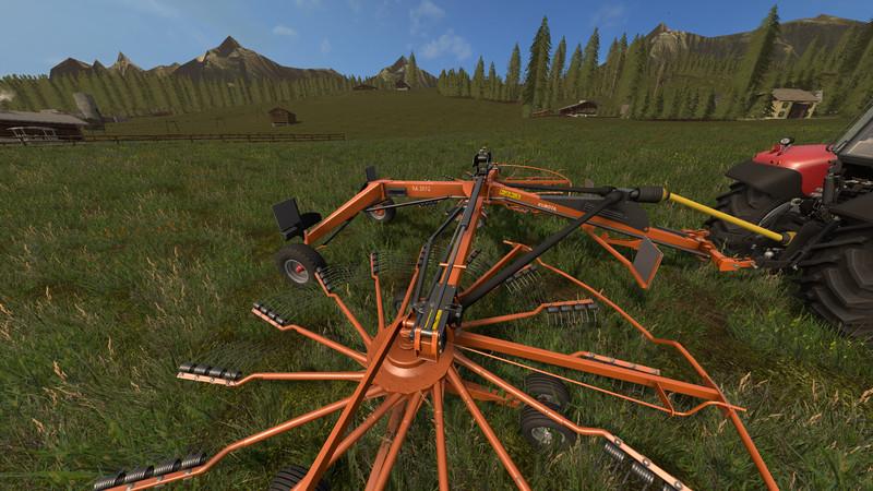 Мод валковая жатка KUBOTA RA 2072 V1.0 Farming Simulator 2017