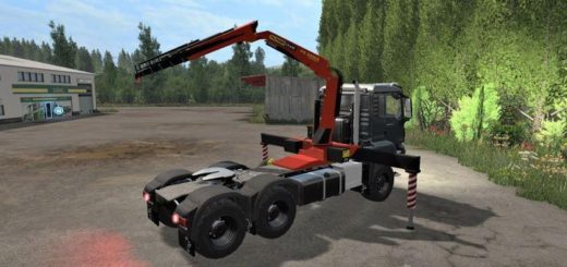 Мод грузовик MAN TGS 26.480 6X4 V1.0.0 Farming Simulator 2017