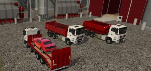 Мод ПАК грузовиков MAN TGS 6X4 BENNE V1.0 FS17