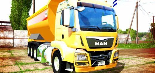 Мод грузовик MAN TGS DUMPER V1.2 Farming Simulator 2017
