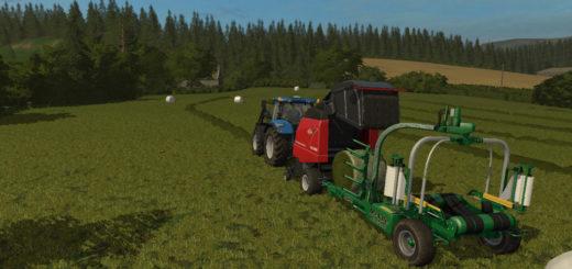 Мод обмотчик тюков MCHALE HS2000 V1.0.0.0 Farming Simulator 17