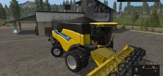 Мод комбайн NEW HOLLAND CR 5.85 EVO V1.0 Farming Simulator 2017