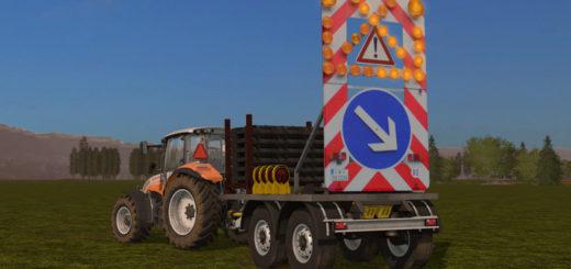 Мод Traffic safety trailer (VSA) with a lighting system v2 Farming Simulator 17