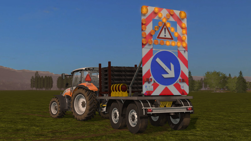 Мод Traffic safety trailer (VSA) with a lighting system v2 Farming Simulator 17