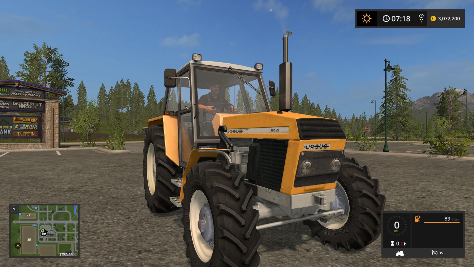 Мод трактор URSUS 914 V1.1 Farming Simulator 17