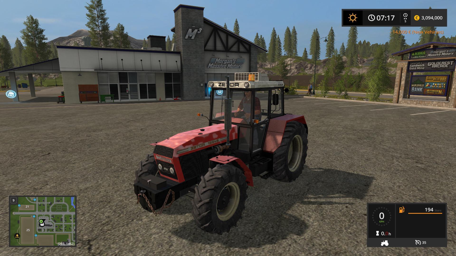 Мод трактор ZETOR 16245 V5.0 Farming Simulator 2017