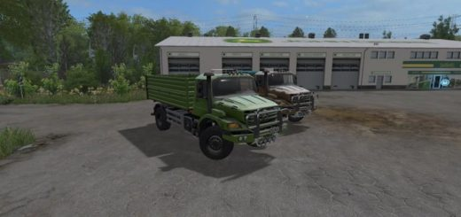Мод грузовик MB M82 ZETROS DC 4X4 V1.0 Farming Simulator 2017