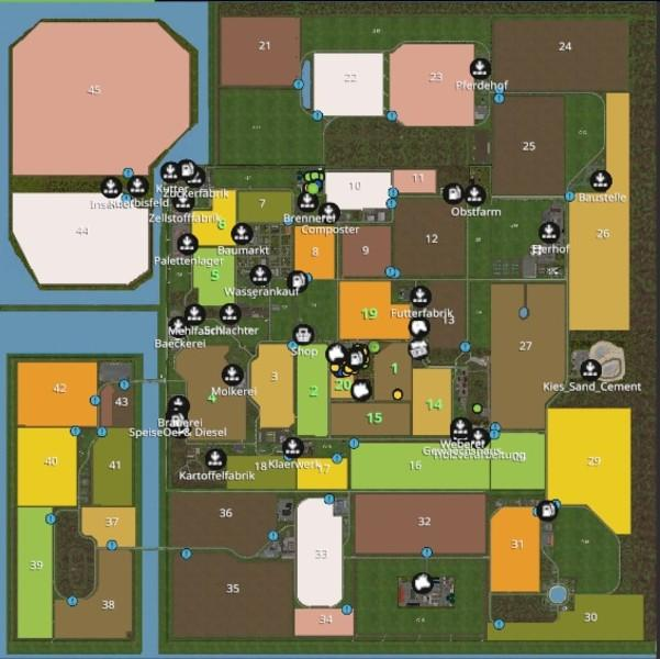 Мод карта NORTH FRISIAN MARCH 4-FOLD MAP V1.0 Farming Simulator 2017