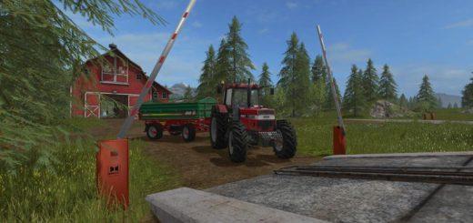 Мод ПАК шлагбаумы PLACEABLE BARRIER V1.0.0.0 Farming Simulator 2017