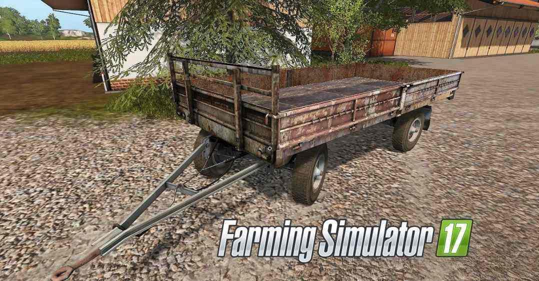 Мод прицеп HL60-02 Pritschenanhänger UAL Farming Simulator 17