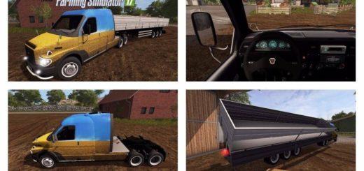 Мод грузовик ГАЗ Ермак V1.0 Фермер Симулятор 2017