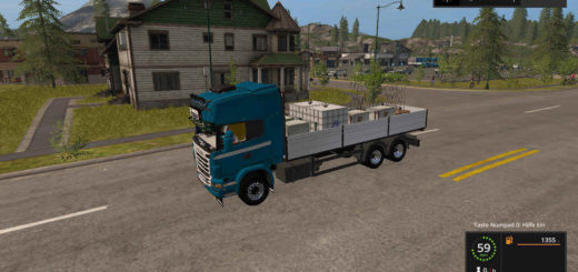 Мод грузовик Scania R730 BDF + Autoload v1.2 Farming Simulator 17