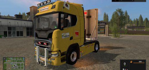 Мод грузовик SCANIA S580 V8 V1.0 FS17
