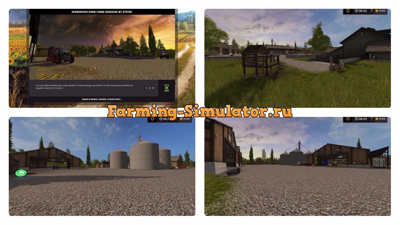 Мод карта SHERWOODS SEASONS UPDATE FIX2 Farming Simulator 17
