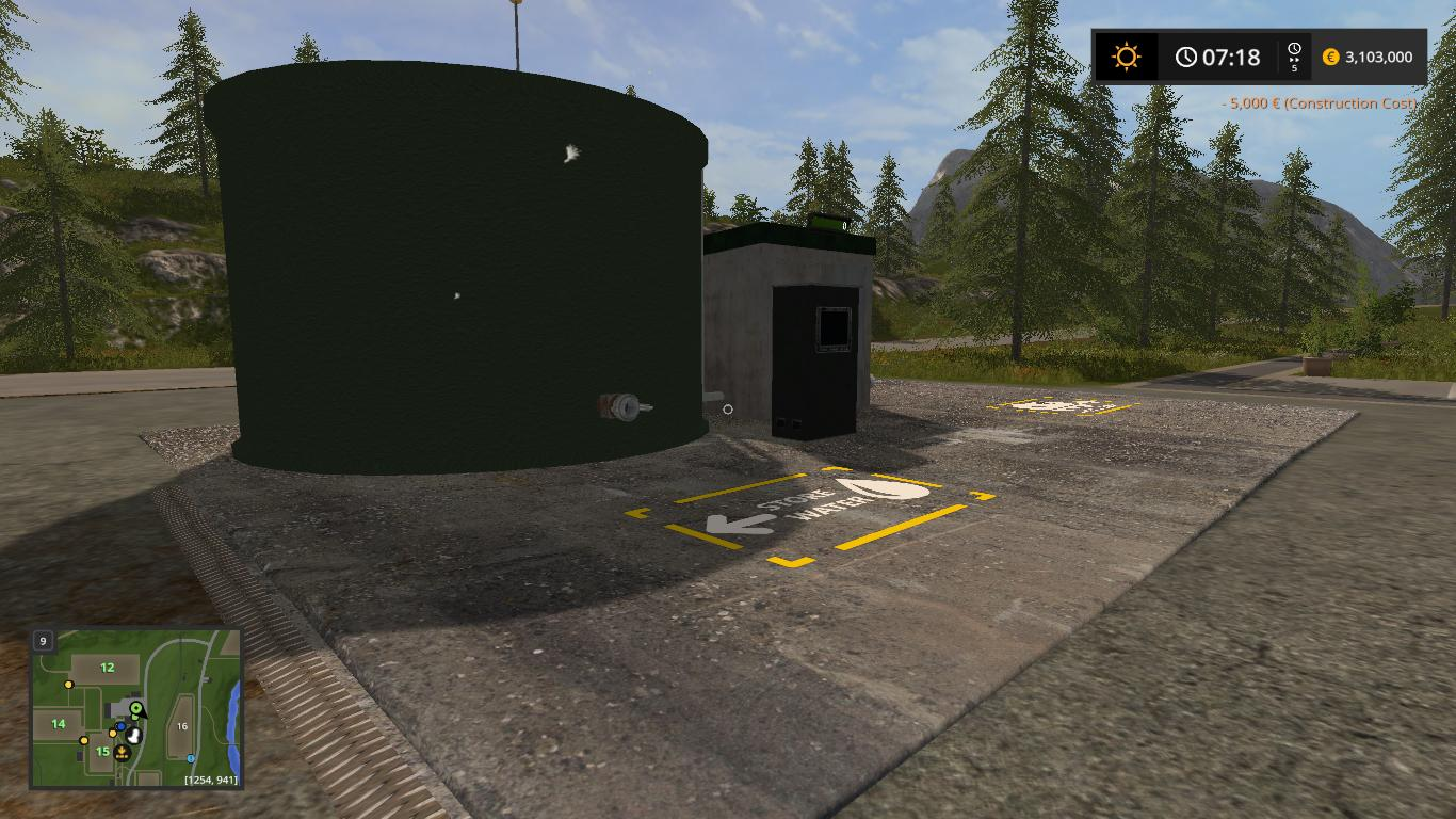 Мод AB WATER STORAGE V1.0.0.2 Farming Simulator 17