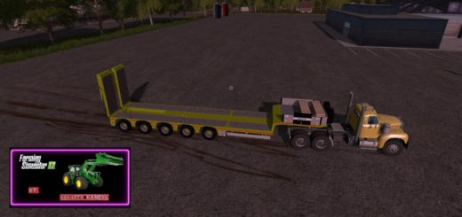 Мод трал CLAAS TRAILER V1.0 Farming Simulator 2017