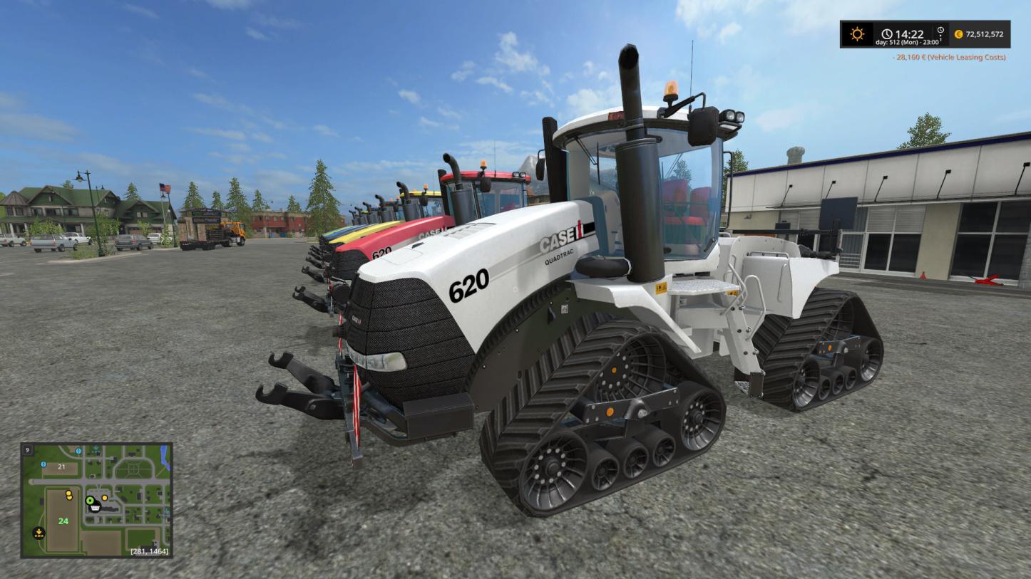 Мод трактор CASE QUAD TRAC 620 V1.0 Farming Simulator 2017