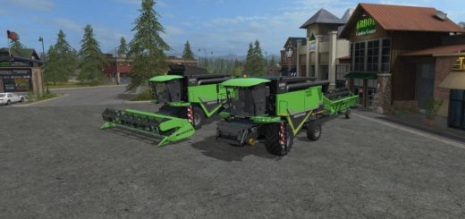Мод комбайн DEUTZ-FAHR HTS 6095 V1.0.0.1 Farming Simulator 17