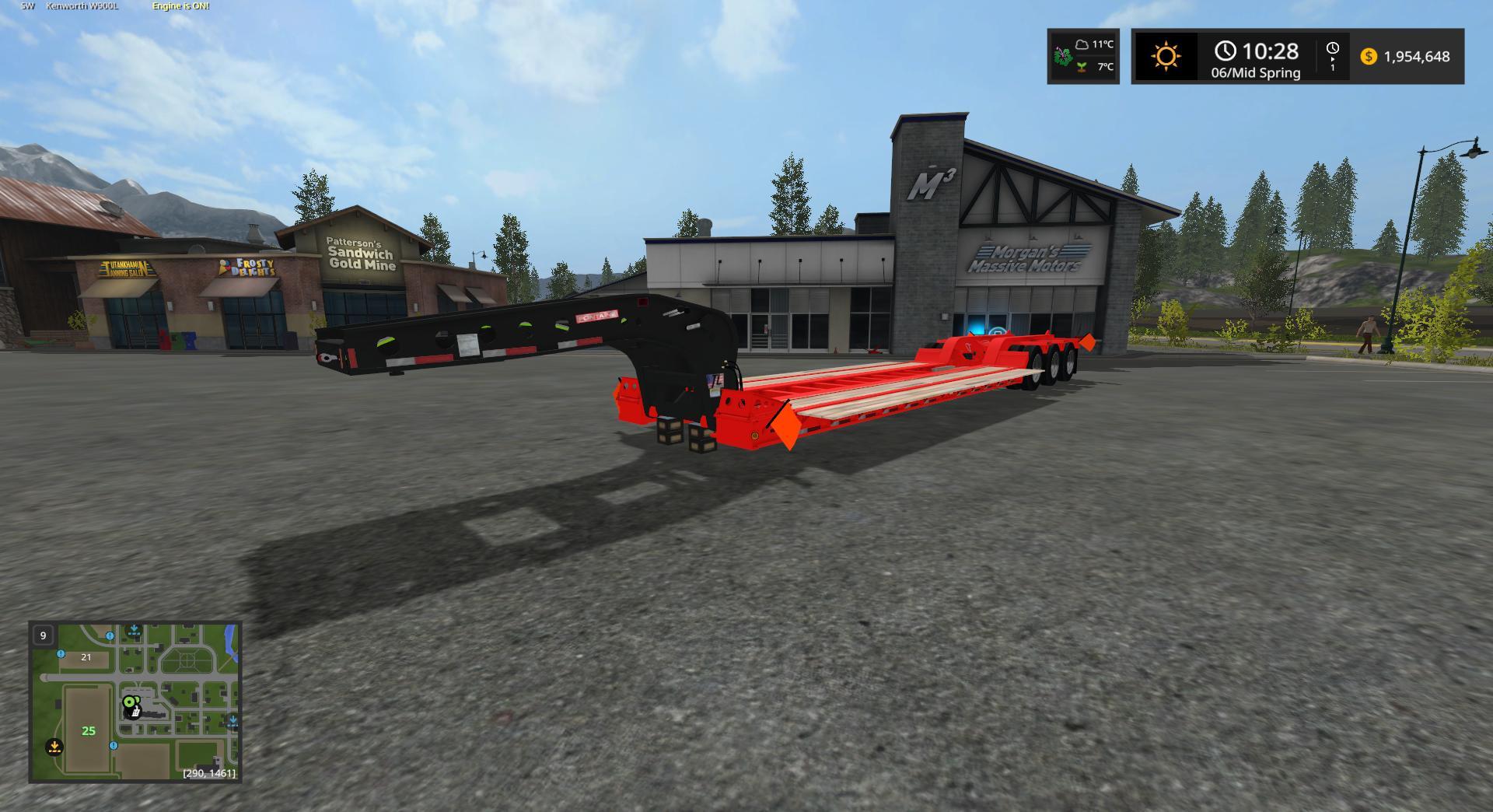 Мод трал FONTAINE MAGNITUDE LOWBOY V1.0 Farming Simulator 17