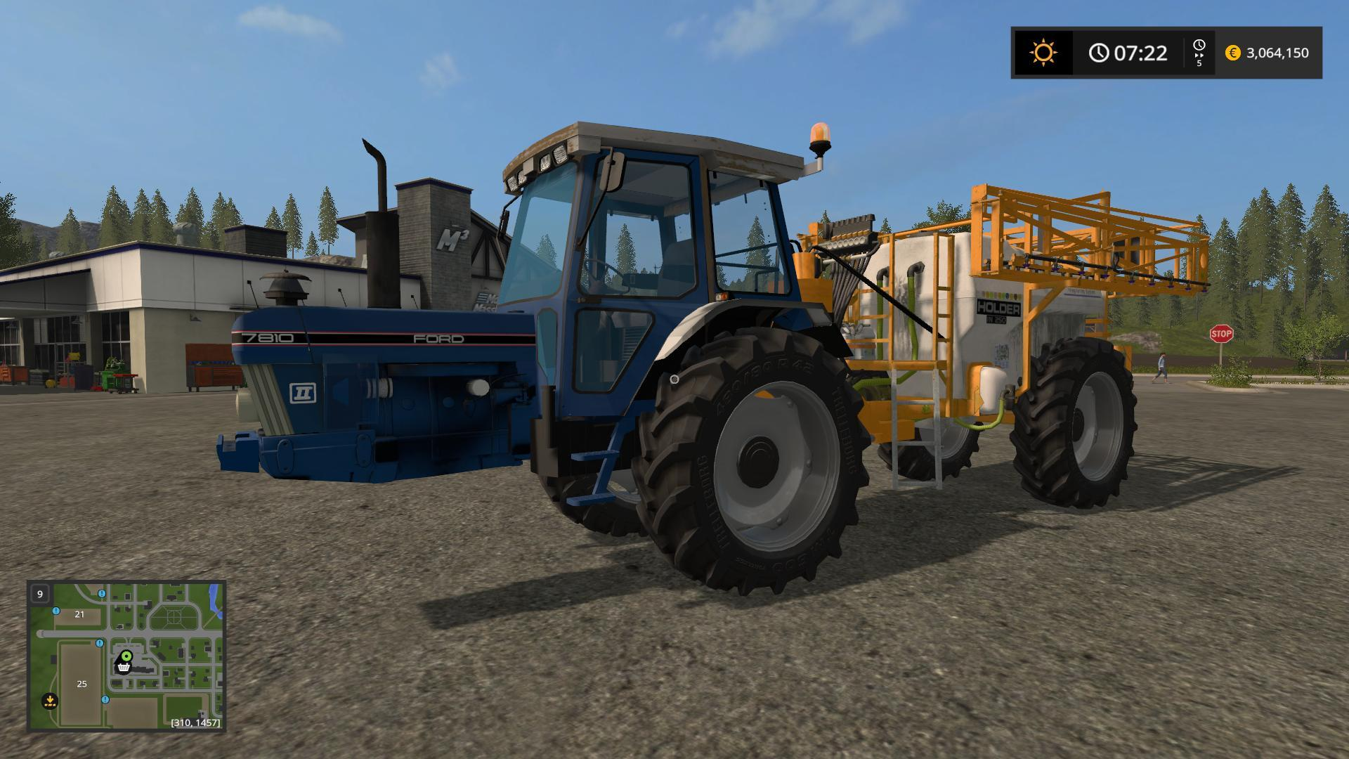 Мод опрыскиватель FORD 7810 SPRAYER BY THESECRETLIFE Farming Simulator 17