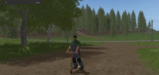 Мод самокат DDR HOLZROLLER V1.0.0.0 Farming Simulator 17