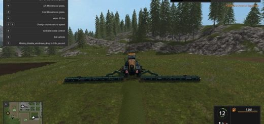 Мод сенокосилка KRONE BIG M500 V7.0 Farming Simulator 2017