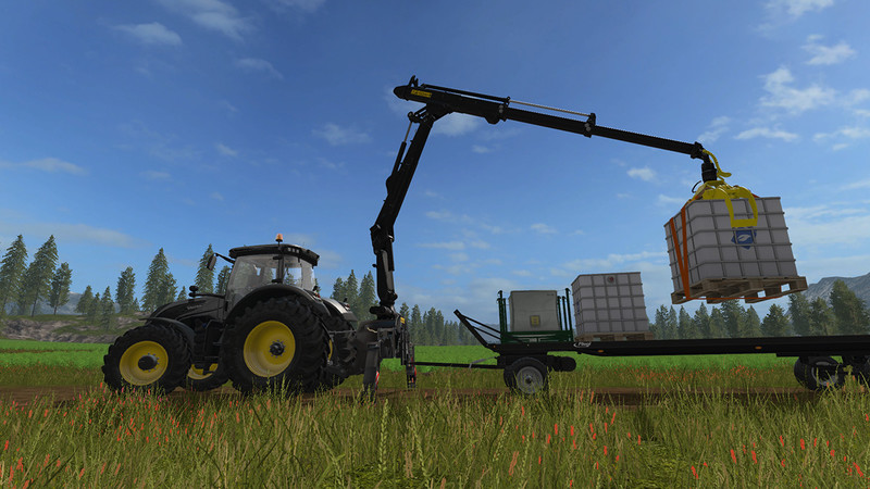 Мод PONSSE Rear Mounted Crane + Lifting Hook Crane V 1.4 FS17
