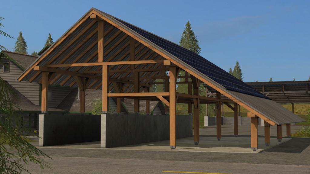 Мод навес SOLAR OBJECT V1.0.0.0 Farming Simulator 2017