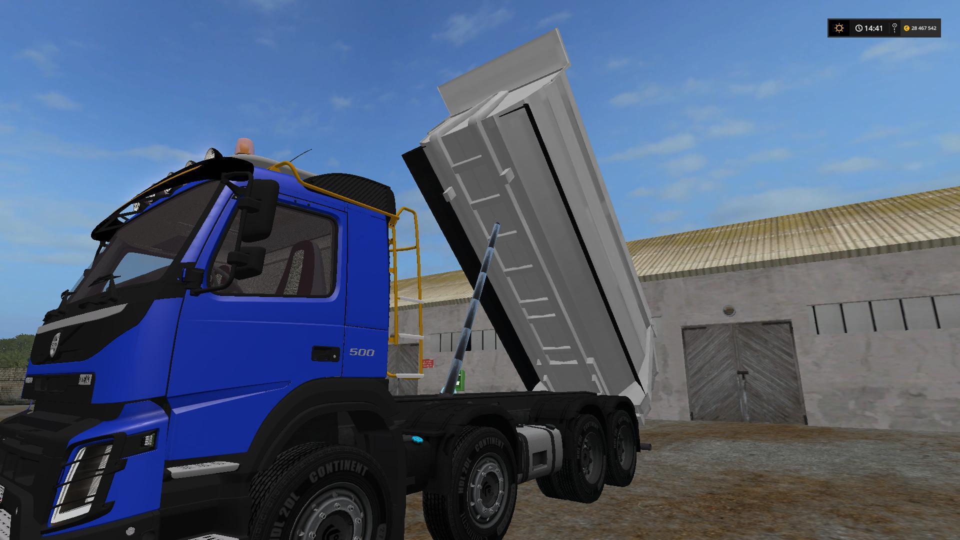Мод грузовик VOLVO 8X6 V1.0 Farming Simulator 17