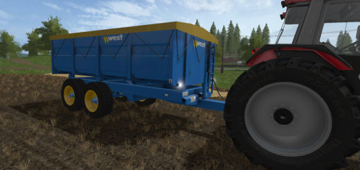 Мод прицеп WEST 10T GRAIN TRAILER V1.1.0.0 Farming Simulator 2017