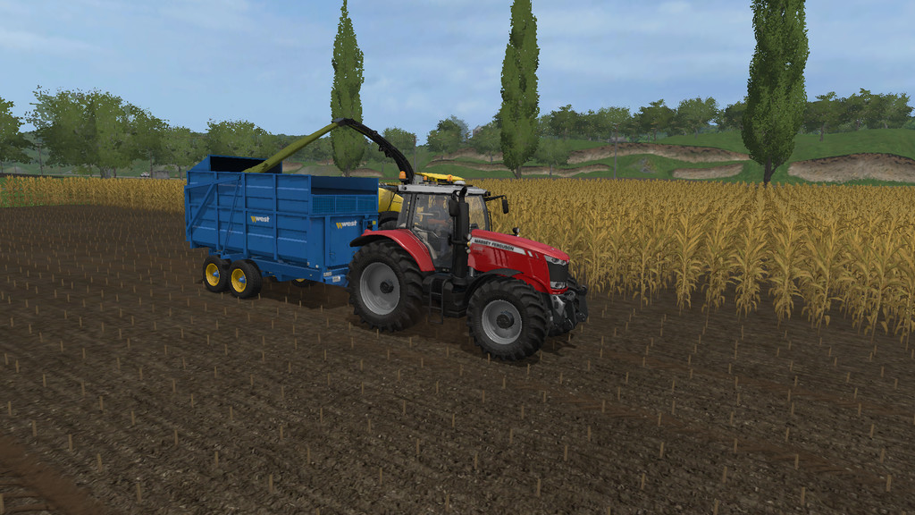 Мод прицеп WEST 10T SILAGE TRAILER V1.1.0.0 Farming Simulator 17