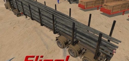 Мод прицеп Fliegl Timber Runner Wide AutoLoad v1.2 Farming Simulator 2017