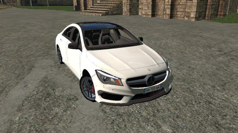 Мод авто Mercedes Benz CLA 45 AMG v 1.0 Farming Simulator 17
