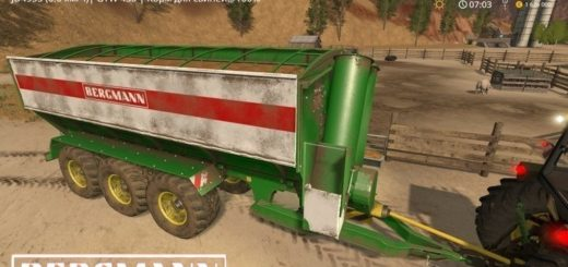 Мод прицеп Bergmann GTW 430 v1.0 Farming Simulator 17