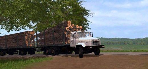 Мод грузовик Краз 6233M6 lesovoz v 1.0 Фарминг Симулятор 2017