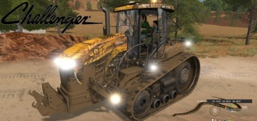 Мод трактор Challenger MT 700E Field Viper v1.1 Farming Simulator 17