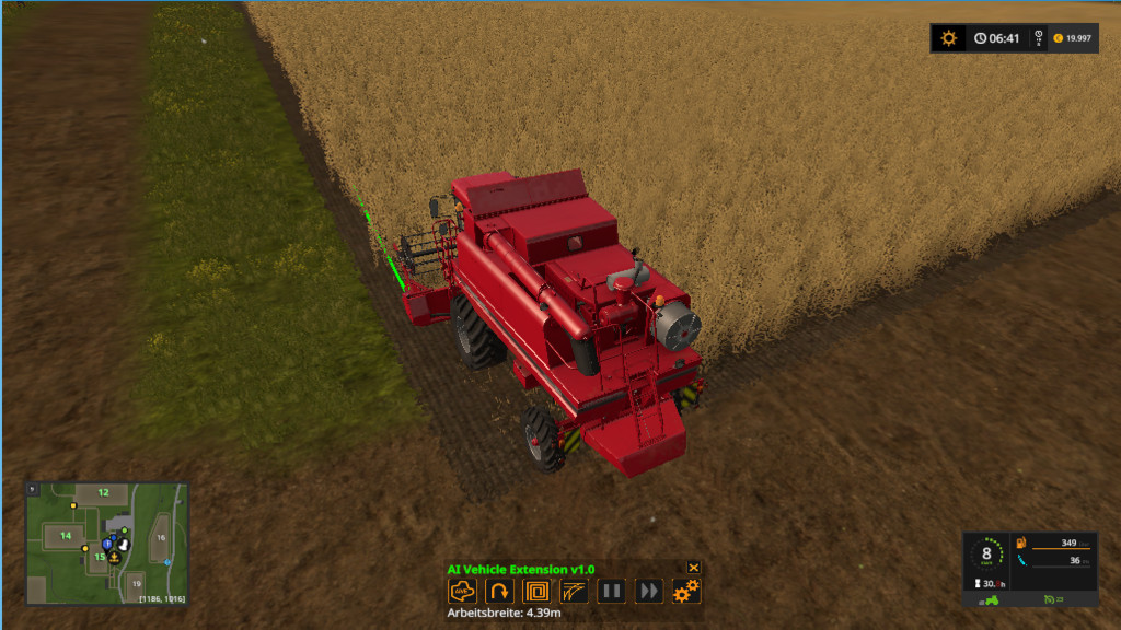 Мод скрипт AI Vehicle Extension v1.1 Farming Simulator 17