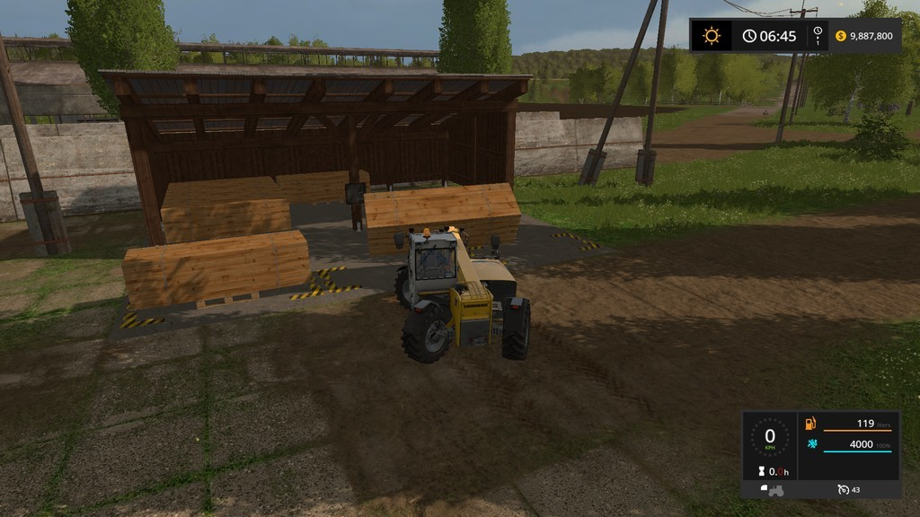 Мод хранилище BOARD STORAGE V1.0.0.0 Farming Simulator 2017