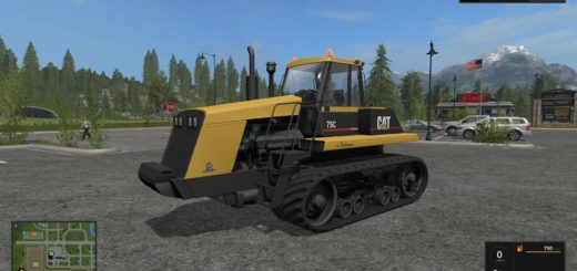 Мод трактор CATERPILLAR 75C V1.1.0.0 Farming Simulator 2017